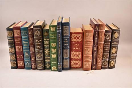 EASTON PRESS 15 LEATHER BOUND BOOKS