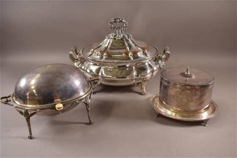 3 PIECES OF SILVER PLATE