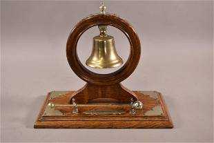 ARTS AND CRAFTS OAK DINNER BELL