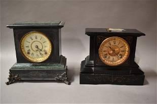 2 ANTIQUE MANTLE CLOCKS