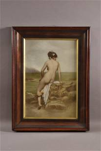 """""""THE BATHER"""" FRAMED VICTORIAN PRINT"""
