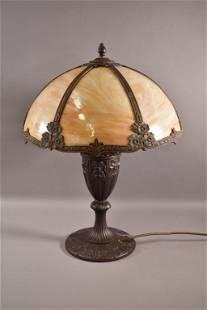 1920'S MILLER SLAG GLASS TABLE LAMP