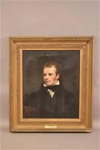 1826 PORTRAIT PAINTING OF A GENTLEMAN