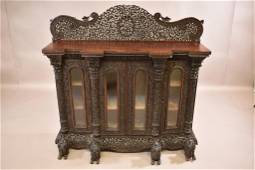 HEAVILY CARVED ANGLO-INDIAN SIDEBOARD