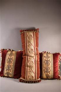 3 ANTIQUE FRENCH PILLOWS