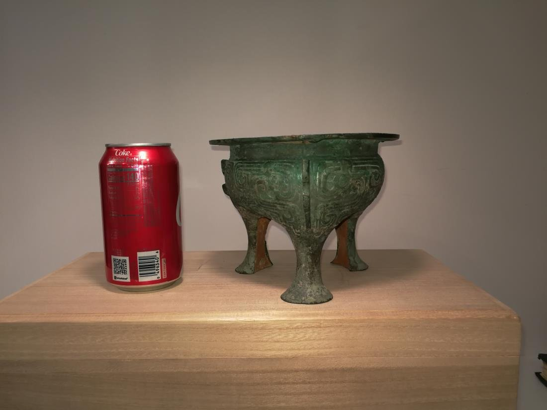 Chinese Archaic Bronze Food Vessel Li Ding Shang/Xizhou