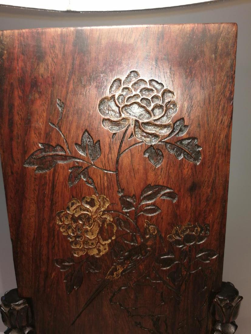 Rare 16th-17th Century Chinese Huanghuali Screen - 2