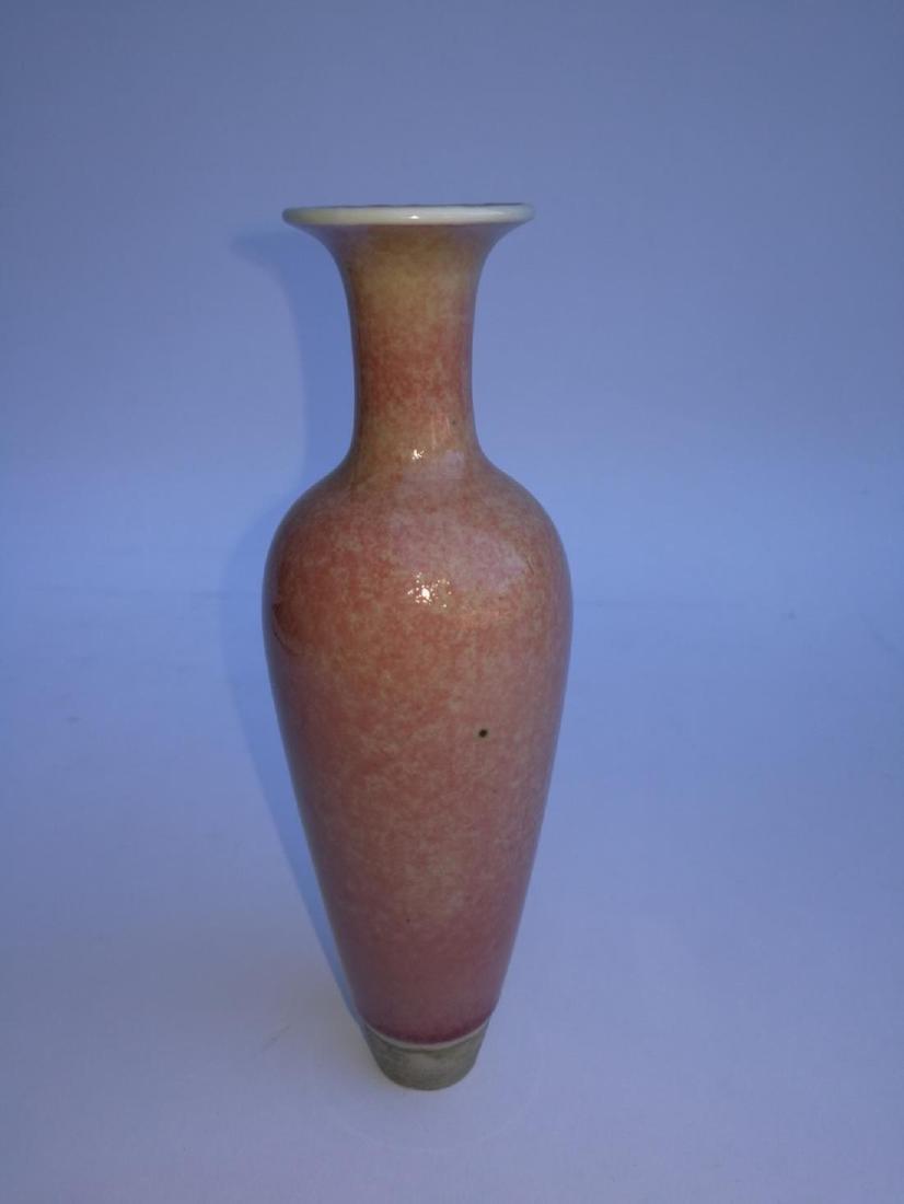 Chinese Porcelain Willow Bottle Da Qing Kangxi Nian Zhi - 3