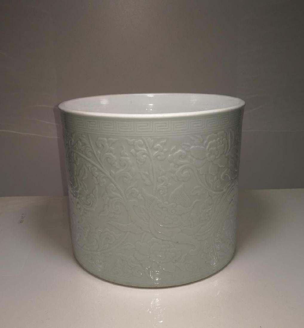 Chinese Porcelain Brushpot Da Qing Kangxi Nian Zhi Mark