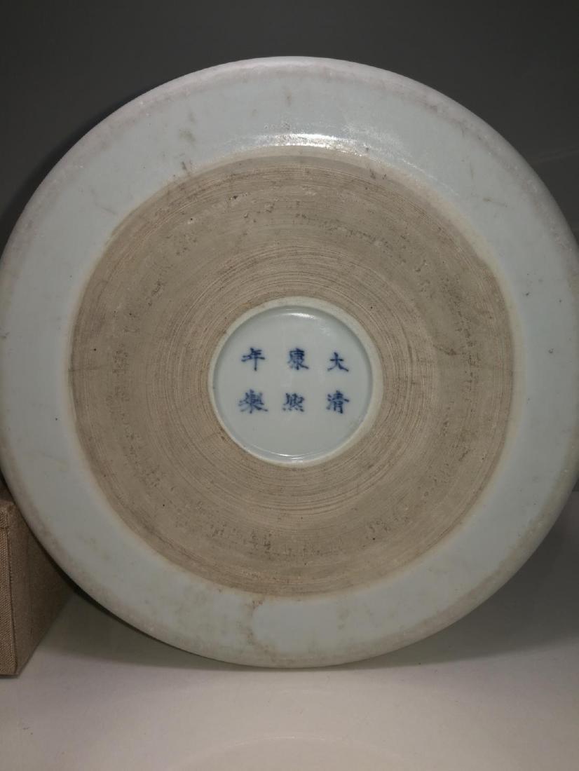 Chinese Porcelain Brushpot Da Qing Kangxi Nian Zhi Mark - 8
