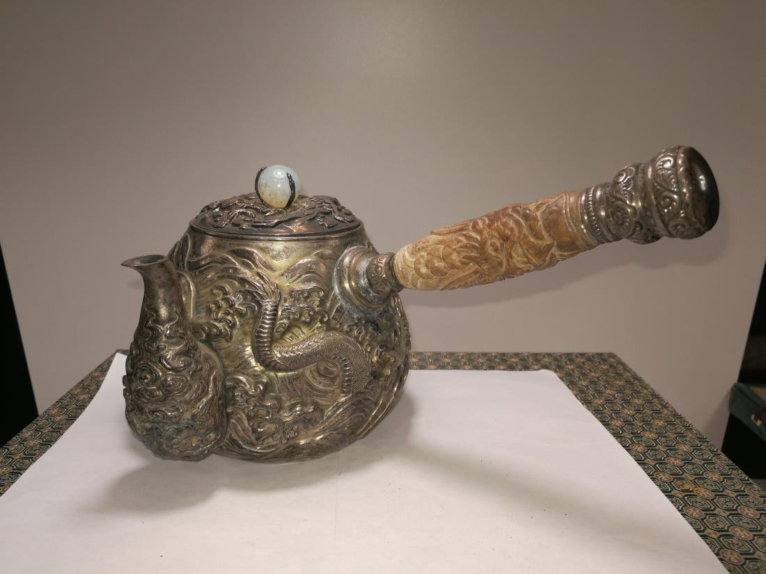 19th/20th Century Japanese Silver Teapot