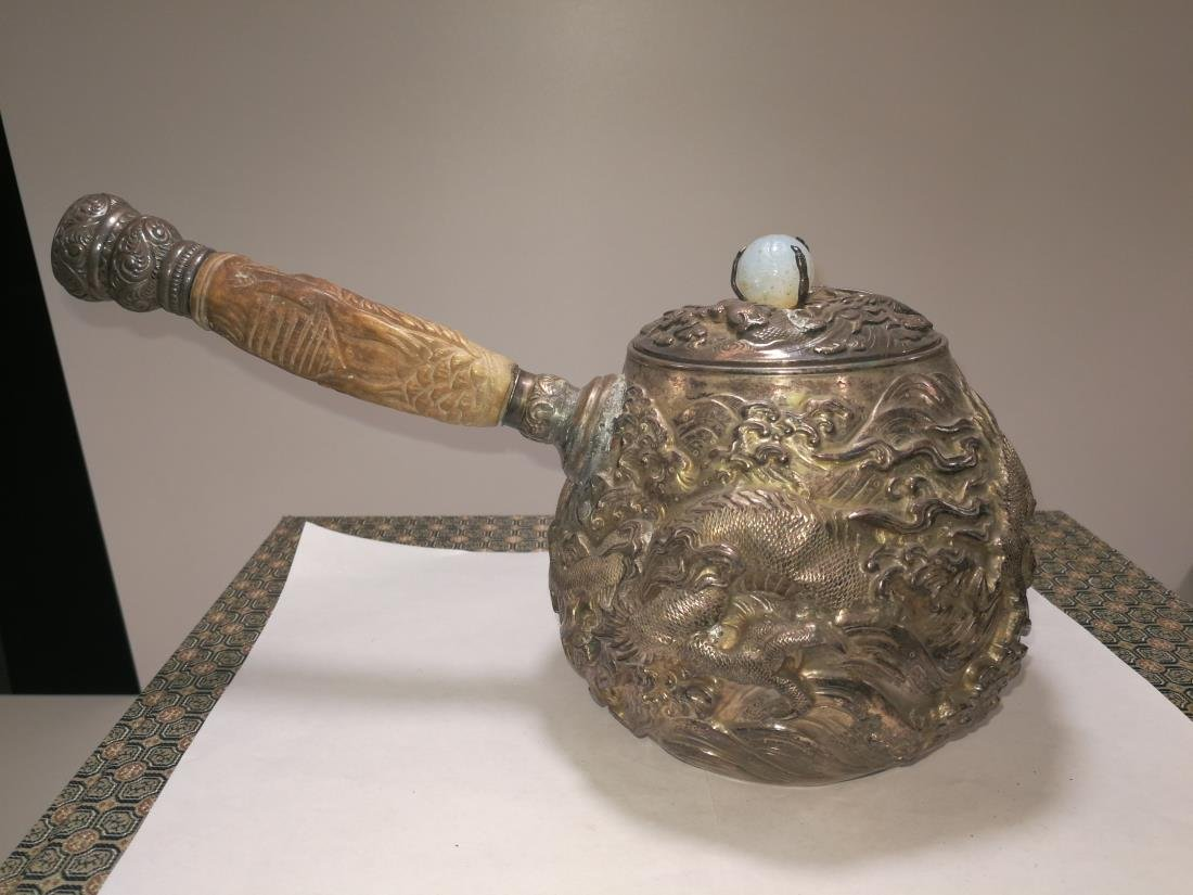 19th/20th Century Japanese Silver Teapot - 3