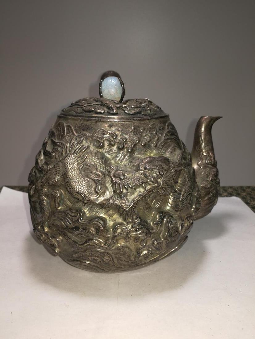 19th/20th Century Japanese Silver Teapot - 5