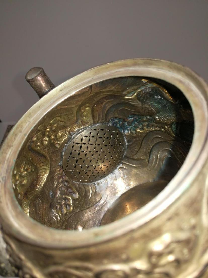 19th/20th Century Japanese Silver Teapot - 9