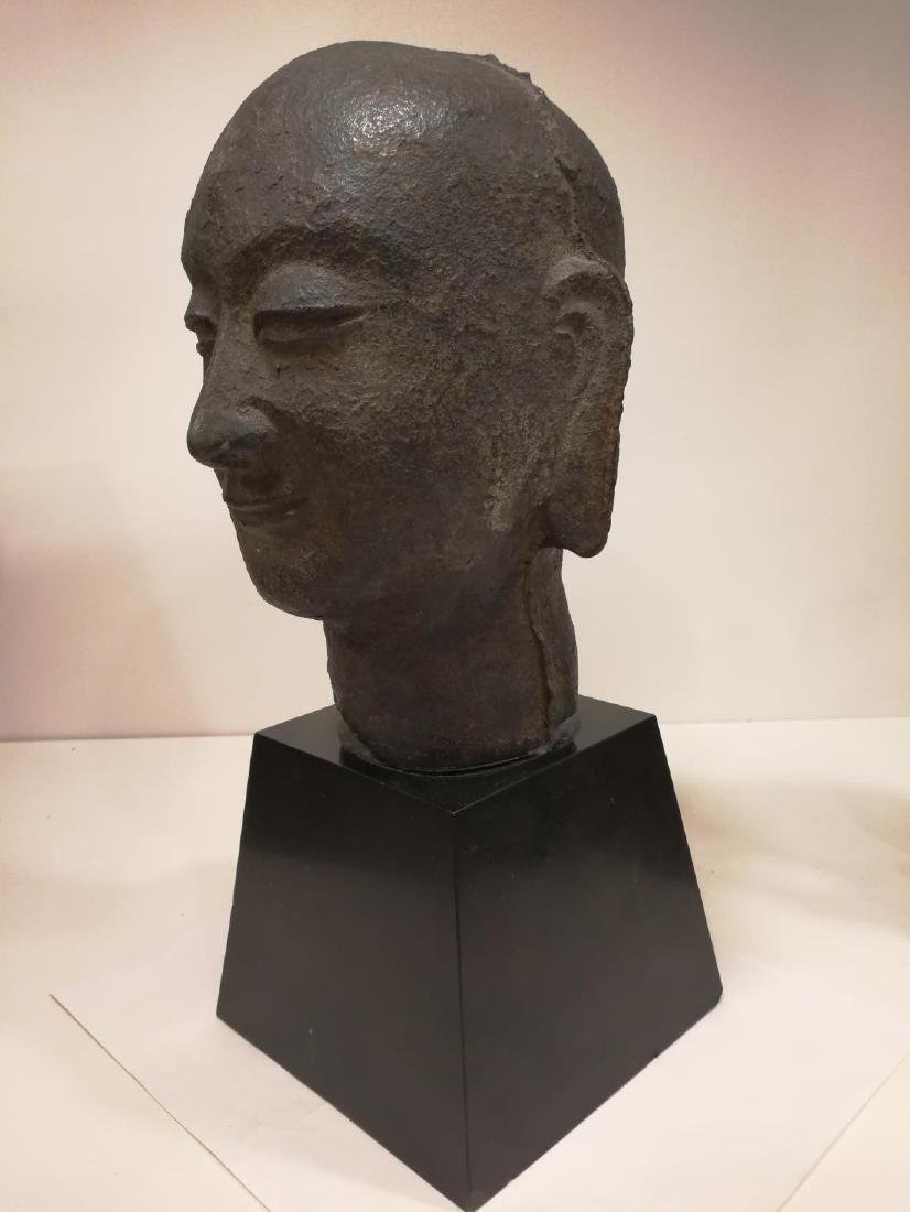 Song Dynasty Chinese Iron Buddha Head - 2