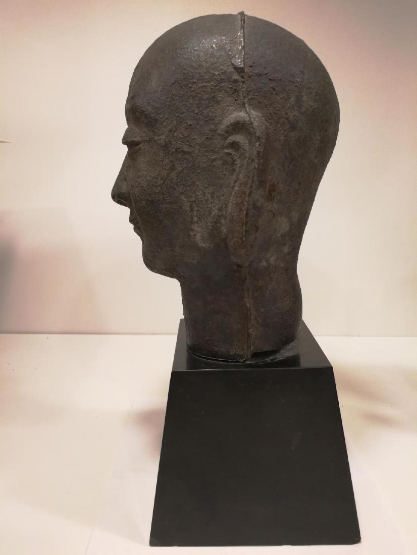 Song Dynasty Chinese Iron Buddha Head - 3