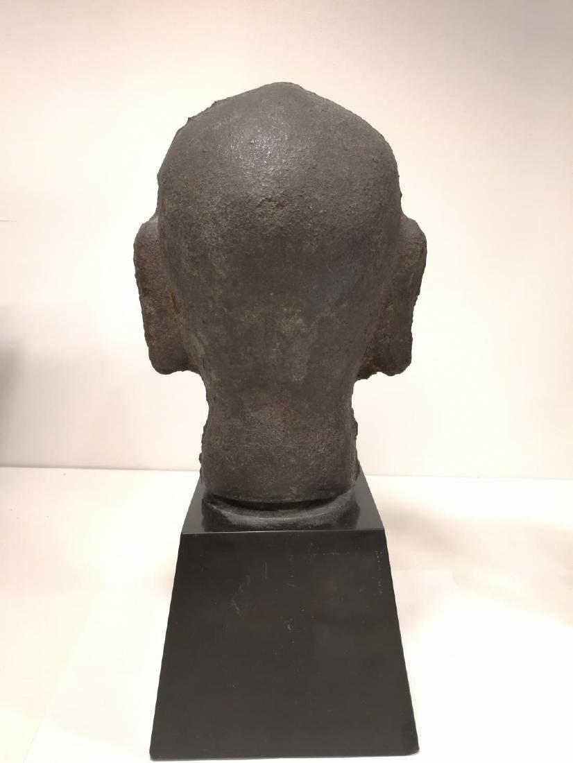 Song Dynasty Chinese Iron Buddha Head - 4