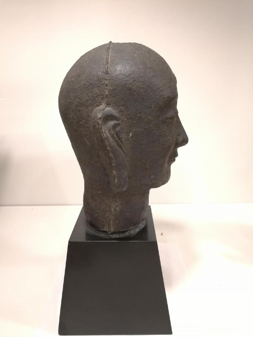 Song Dynasty Chinese Iron Buddha Head - 5