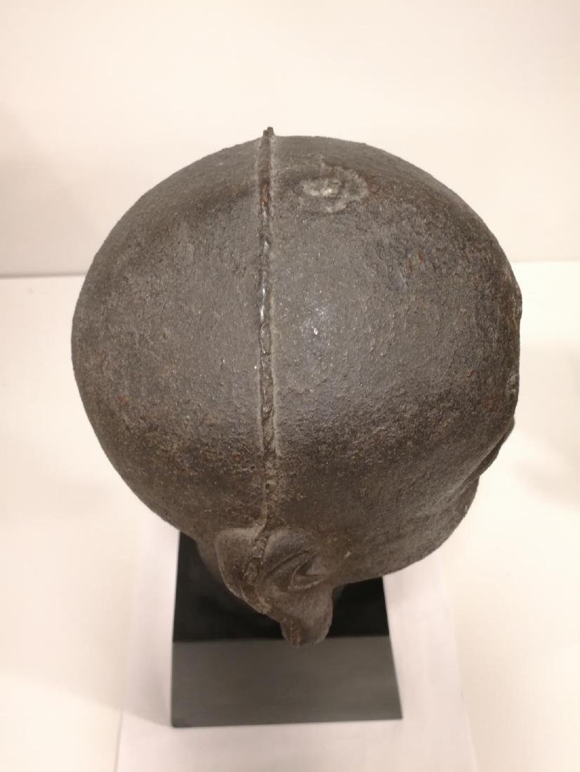 Song Dynasty Chinese Iron Buddha Head - 6