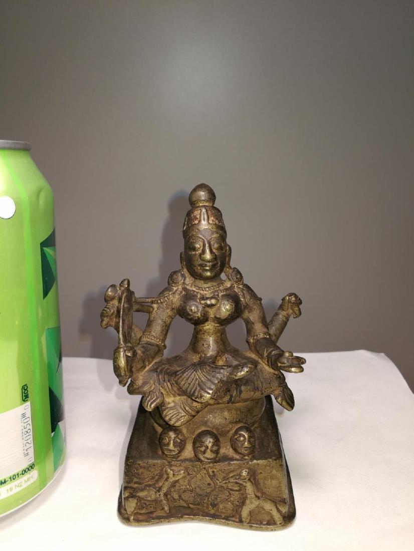 Rare Antique Indian Bronze Sitting Buddha