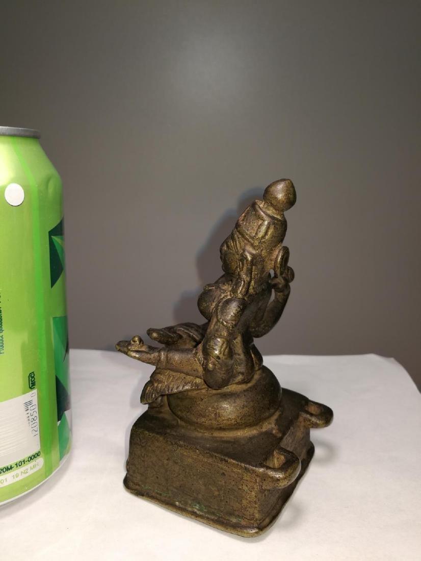 Rare Antique Indian Bronze Sitting Buddha - 3