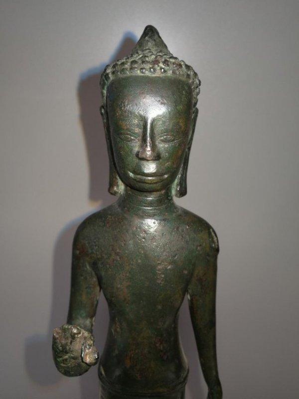Rare 9th Century Thailand Bronze Standing Buddha