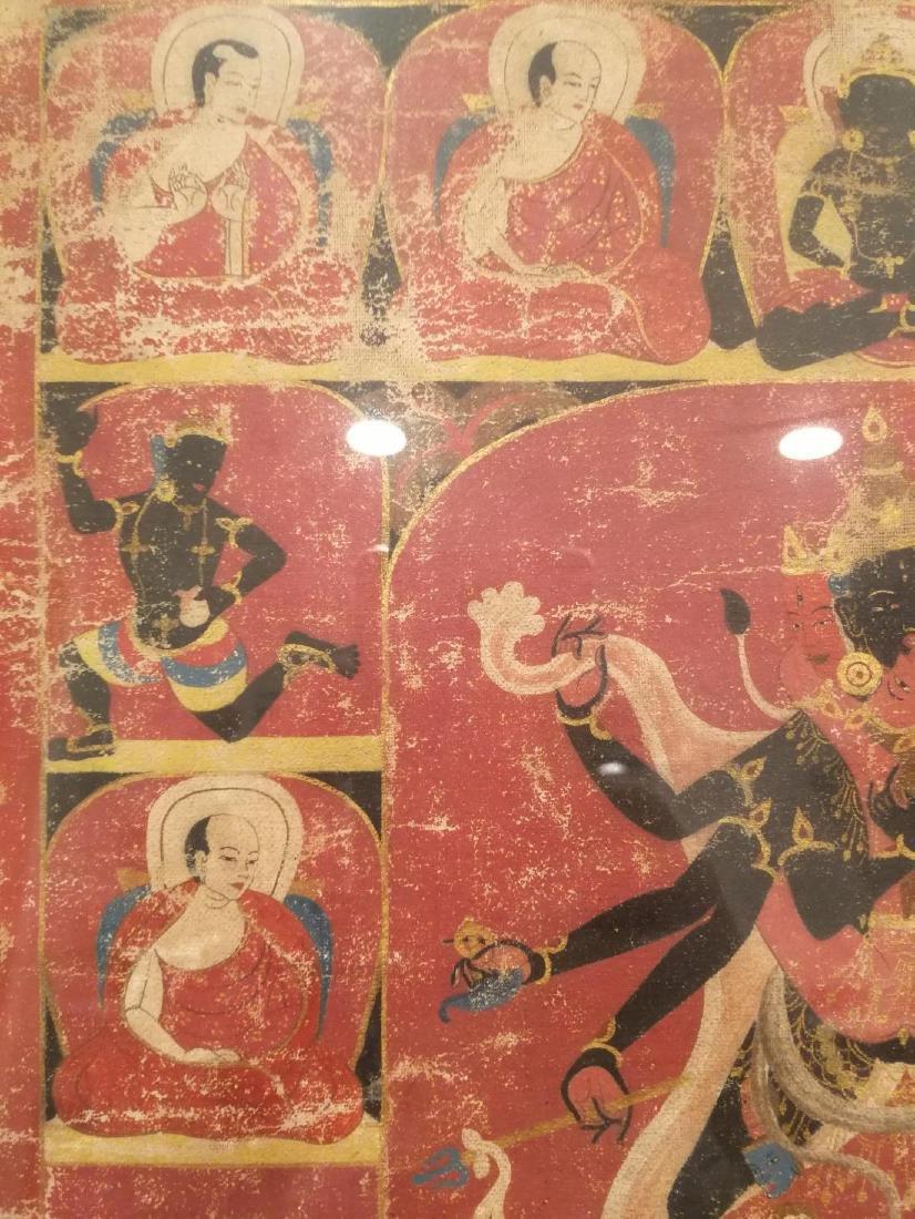 Antique Tibetan Hand Painted Thangka - 10