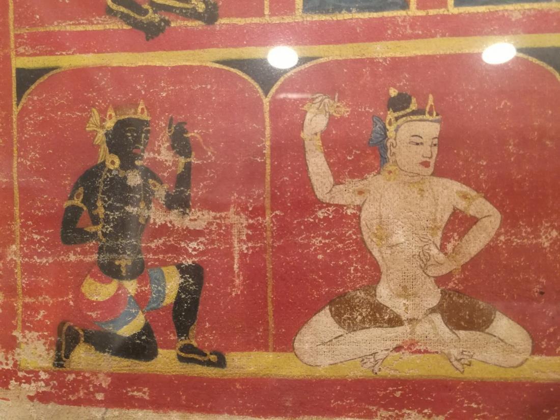 Antique Tibetan Hand Painted Thangka - 6