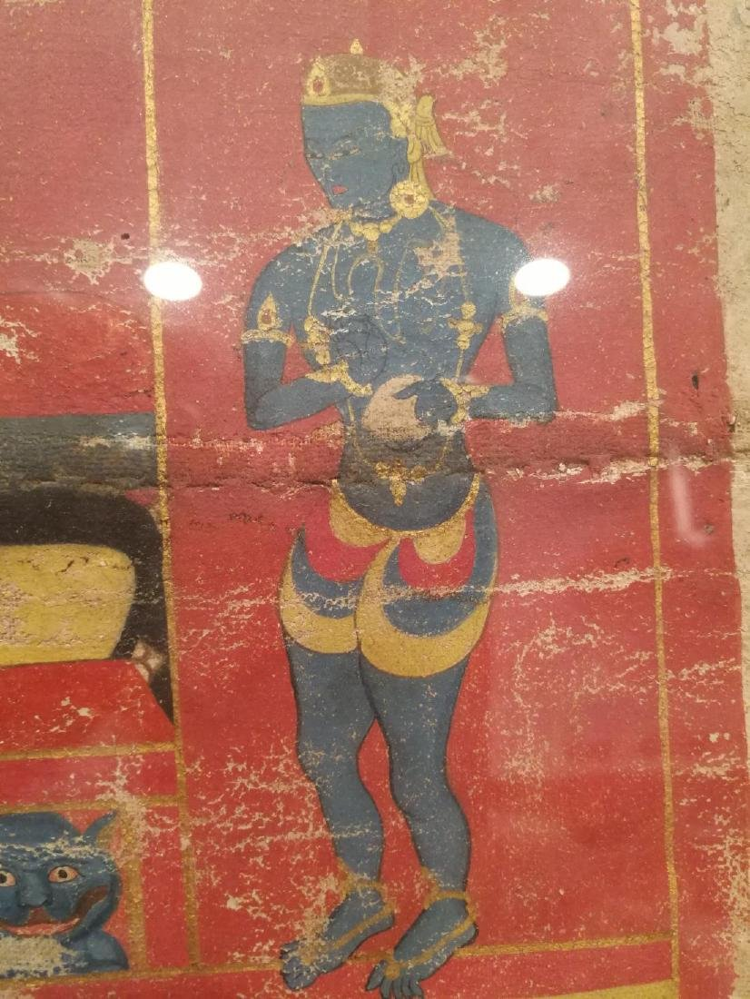 Antique Tibetan Hand Painted Thangka - 7