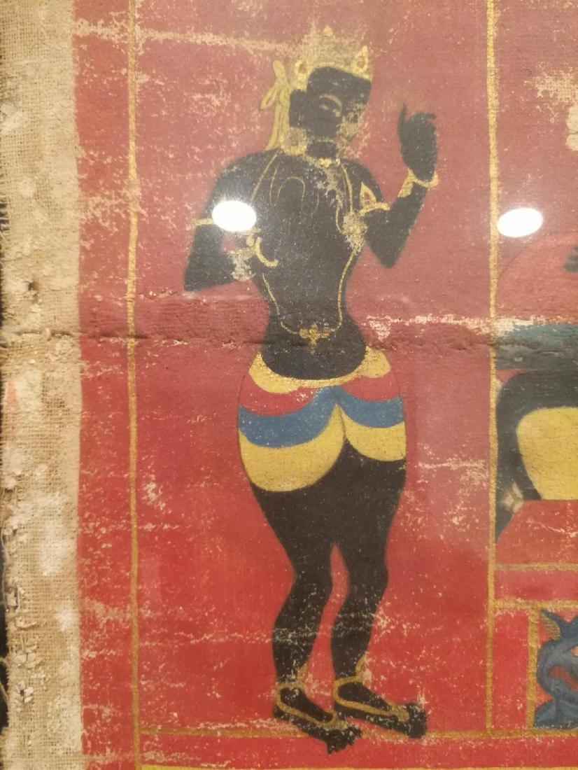 Antique Tibetan Hand Painted Thangka - 9