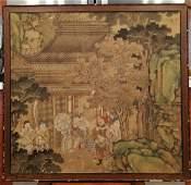 Qing Dy Palace Painter Jiao Bingzhen Painting Panel