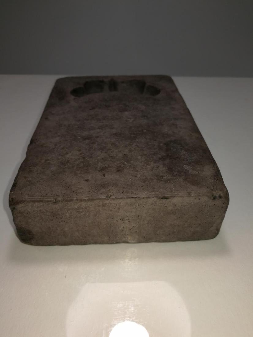 Rare Chinese Inkstone Carved Inscription HuanGuang Mark - 5