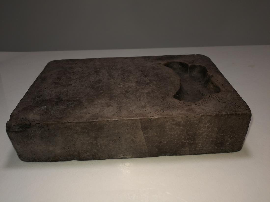 Rare Chinese Inkstone Carved Inscription HuanGuang Mark - 6