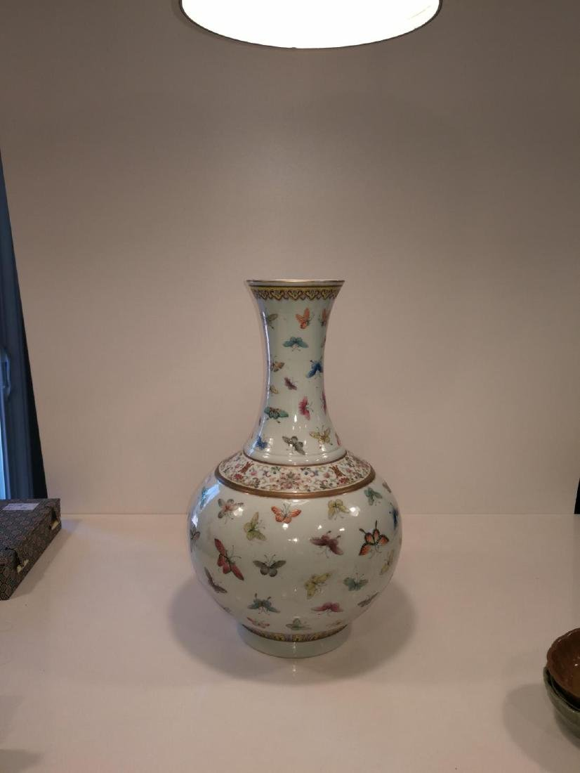 Chinese Famille Porcelain Vase Da Qing Guangxu Mark