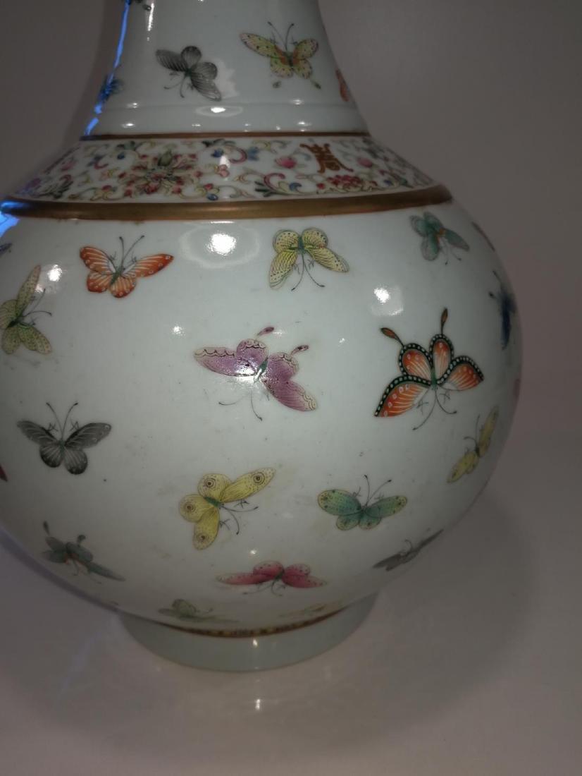 Chinese Famille Porcelain Vase Da Qing Guangxu Mark - 2