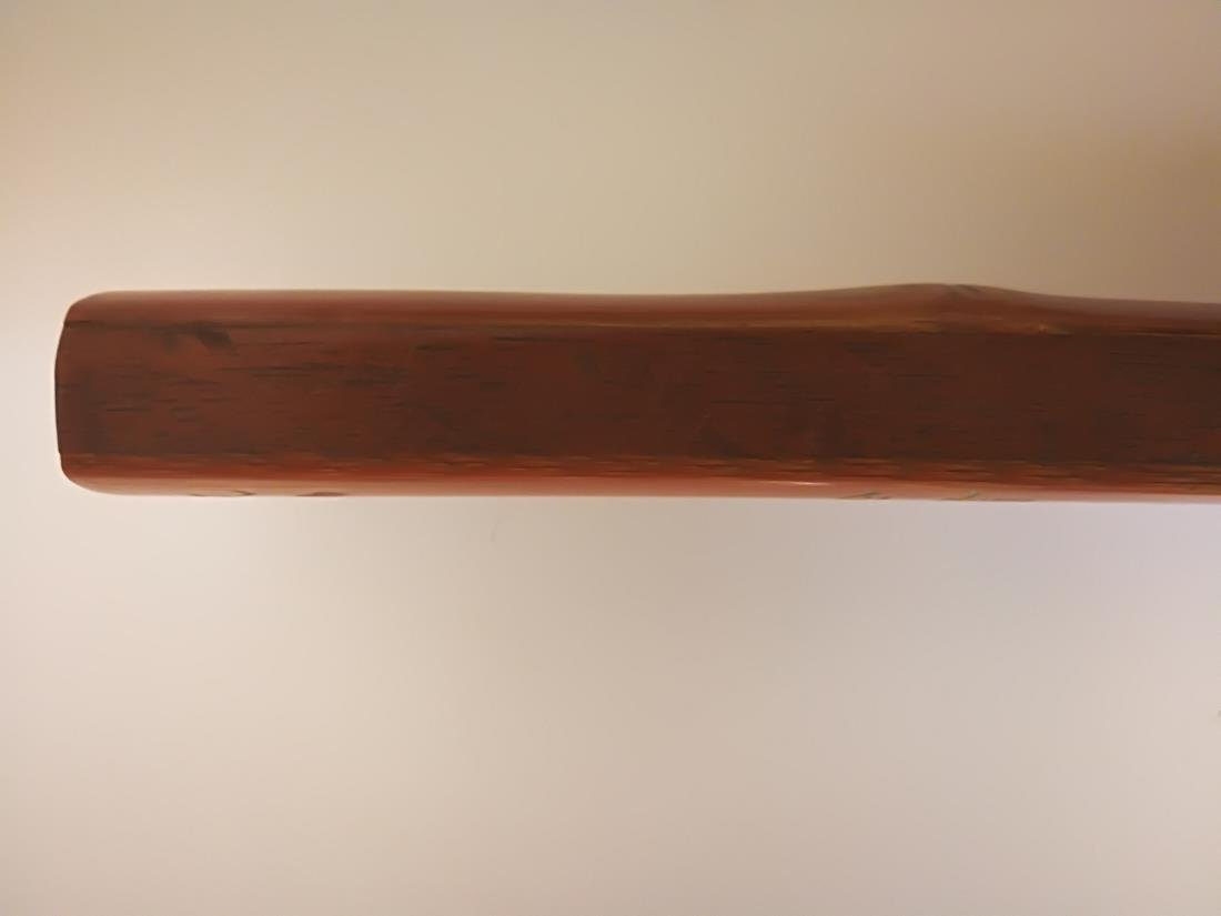 Bamboo Carved Fan-shaped Penal Ruler Artist Signed - 9