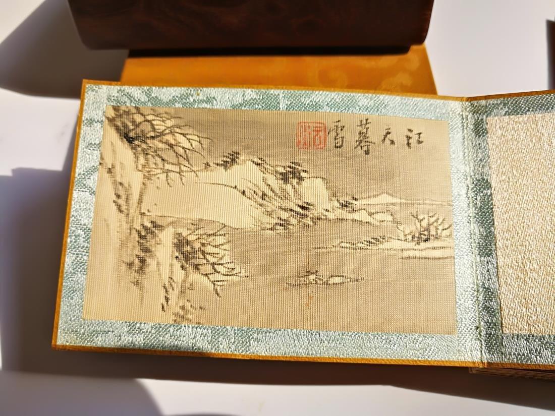 Chinese Pocket Landscape Painting Album Original Box - 3