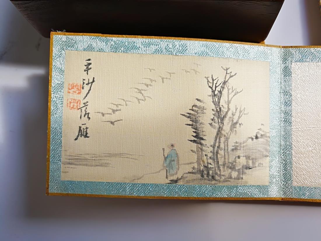 Chinese Pocket Landscape Painting Album Original Box - 5