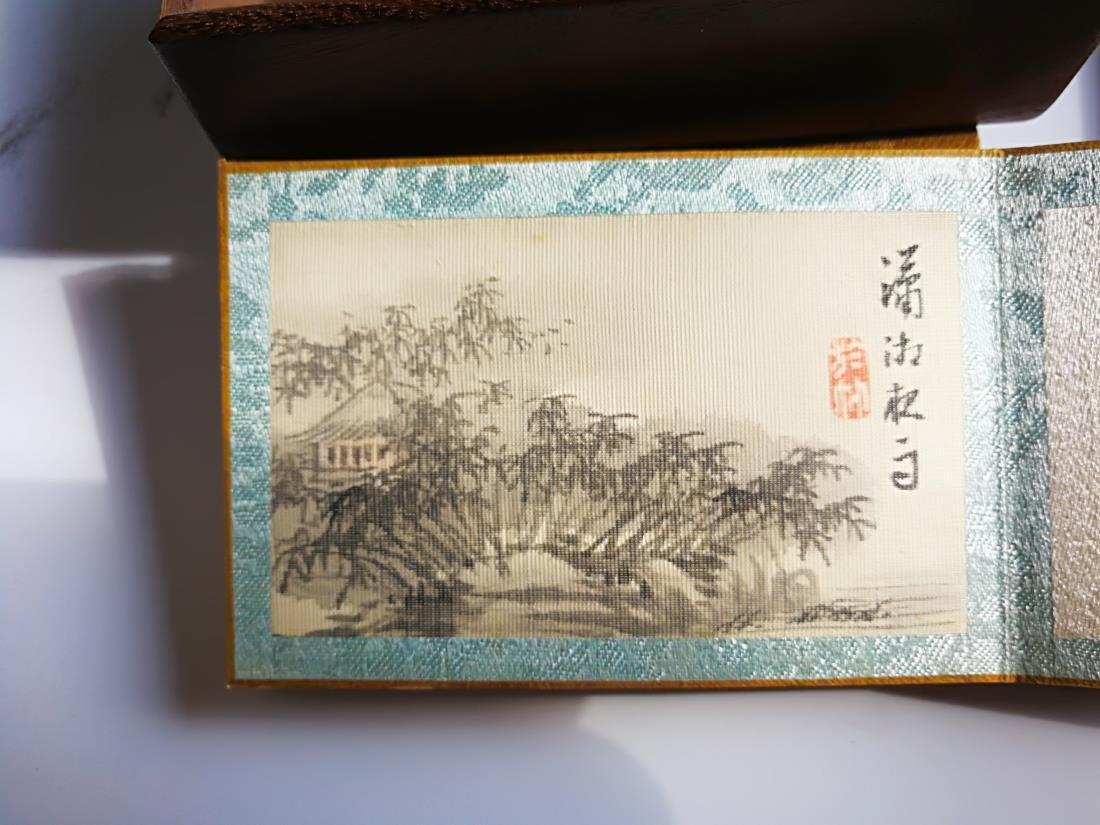Chinese Pocket Landscape Painting Album Original Box - 6