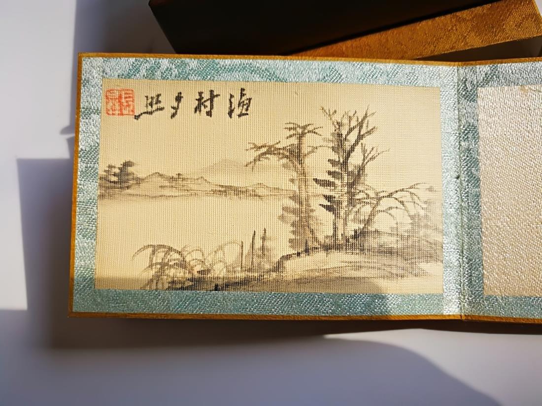 Chinese Pocket Landscape Painting Album Original Box - 7