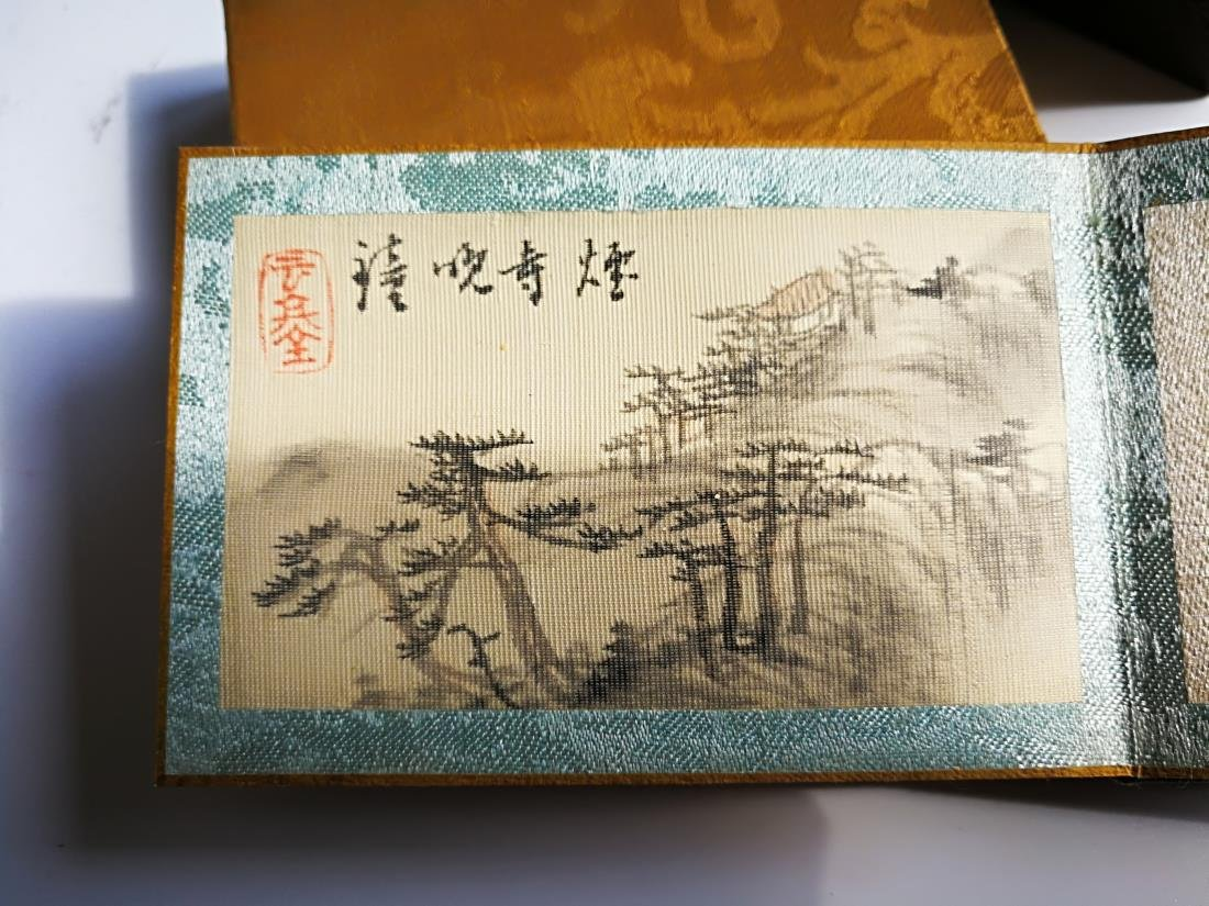 Chinese Pocket Landscape Painting Album Original Box - 8