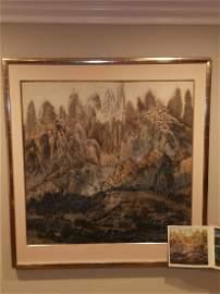 1981 Artist YUAN YUNFU's Huangshan Landscape Painting