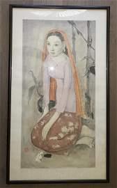 SINGAPORE CHINESE ARTIST ZHONG SIBIN INK PORTRAIT
