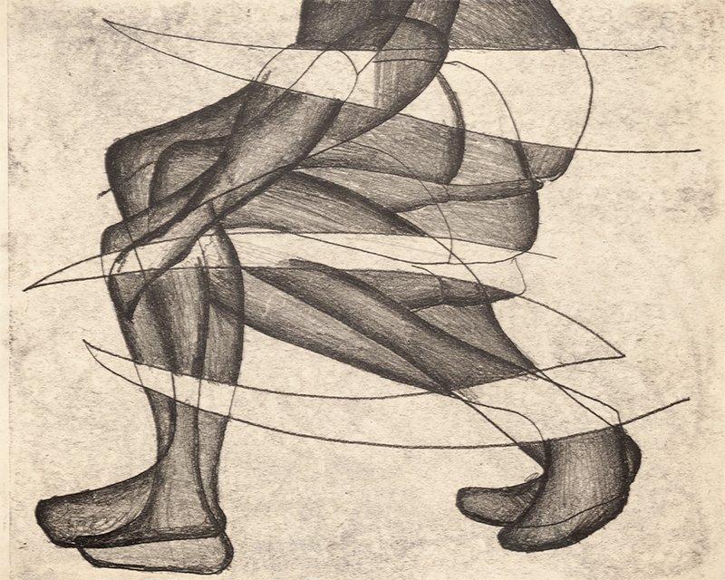 """Maria Jarema, z cyklu """"Akty"""", 1953"""