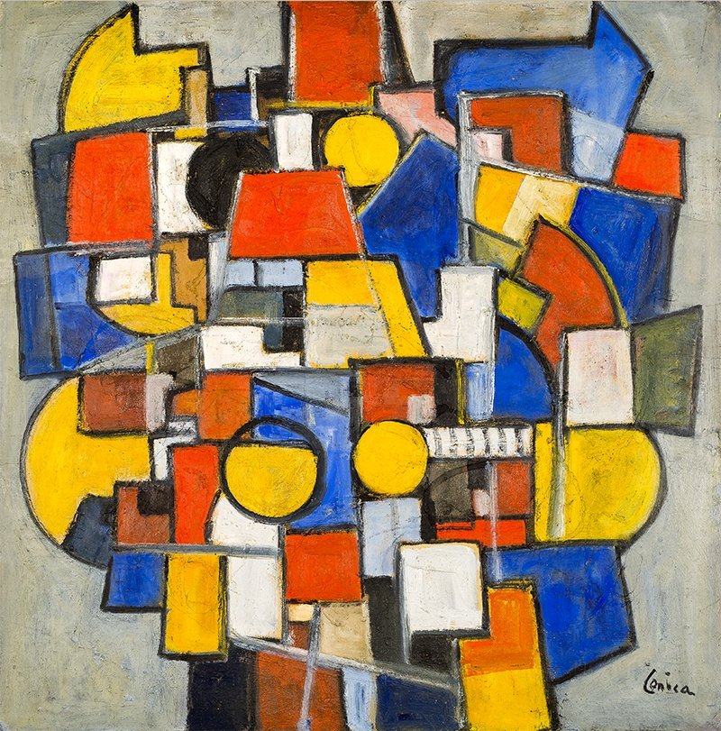Alfred Lenica, Geometria - Miasto III, c. 1948