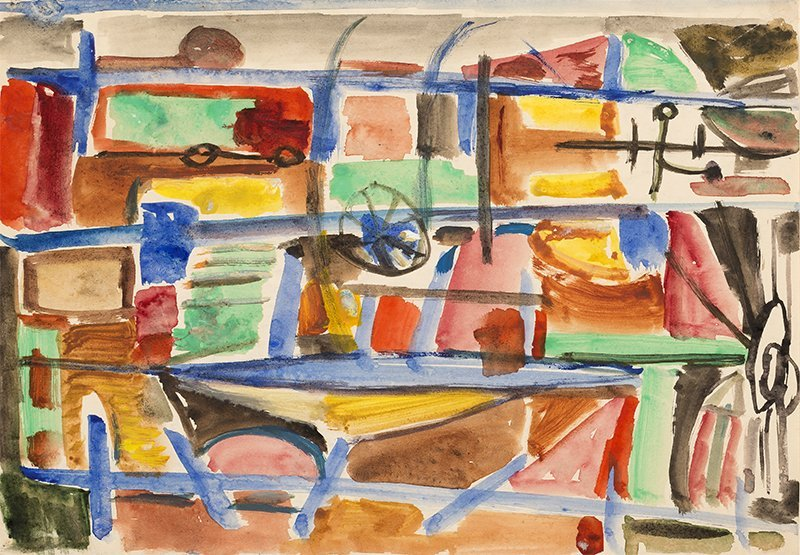 Jonasz Stern, Composition, 1950s