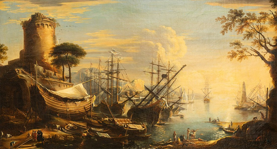 (Italian School), Mediterranean Landscape, 18th century