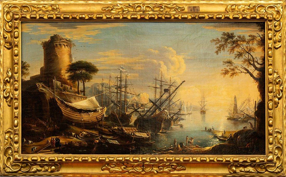 (Italian School), Mediterranean Landscape, 18th century - 2
