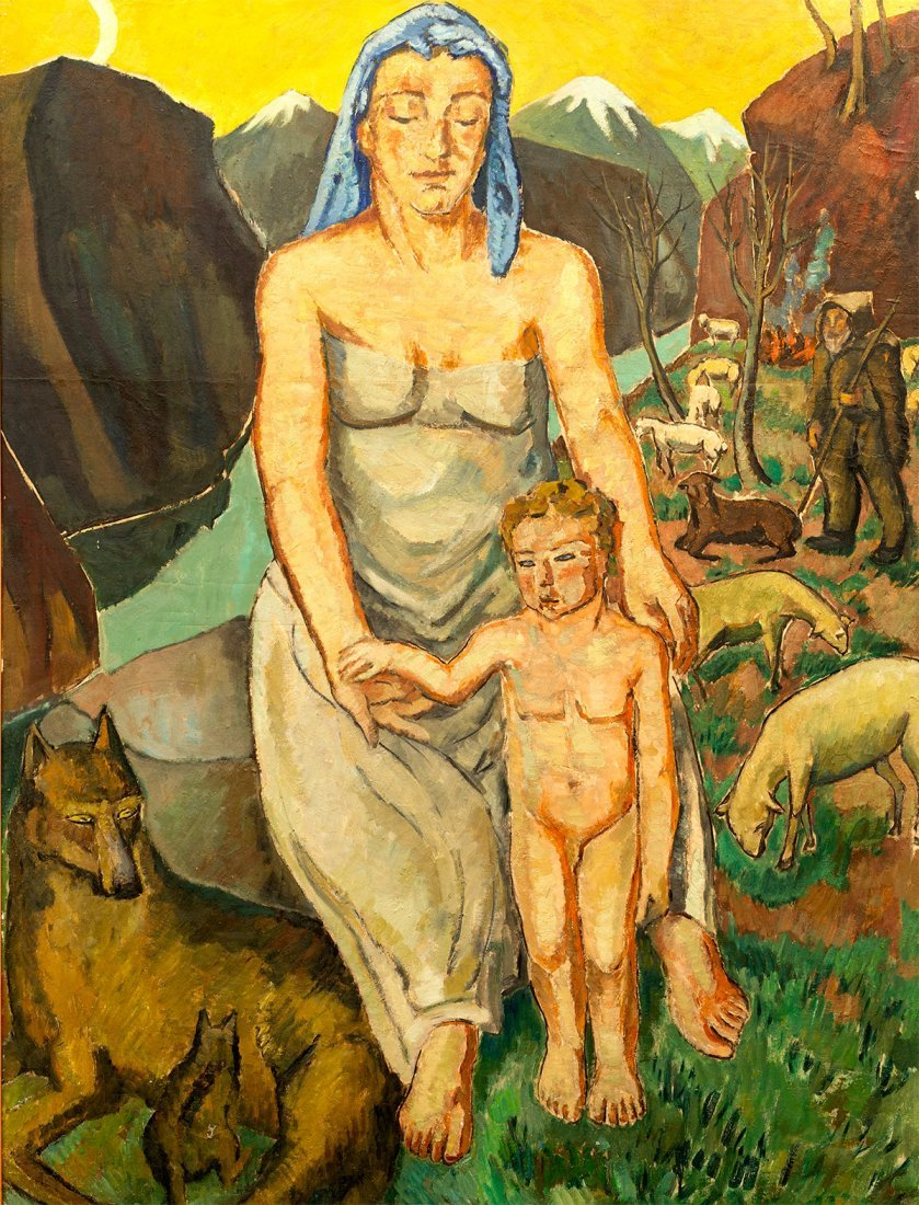 Mela Muter, Mother with a child, before 1939