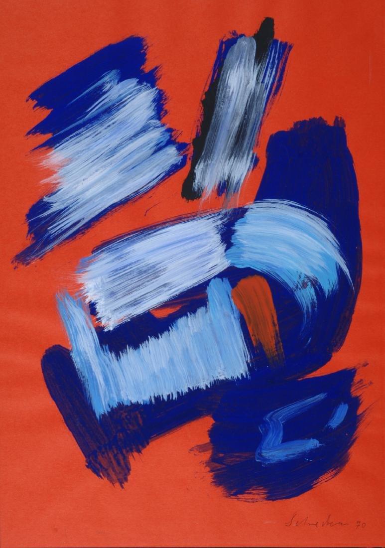 Gerard Schneider (1896-1986) Senza titolo, 1970